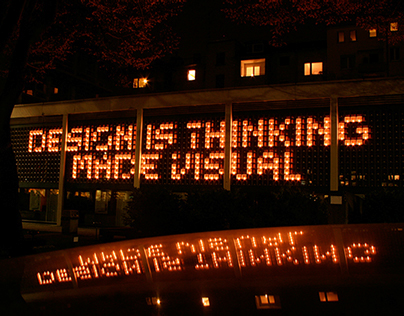 Design is thinking made visual. Installation.