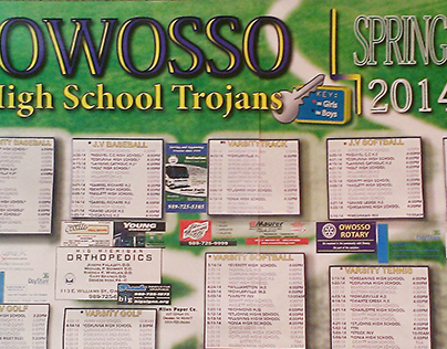 Owosso High School Sports Booster Schedule for 2014!