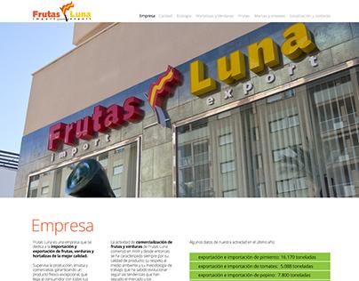 Web Frutas Luna