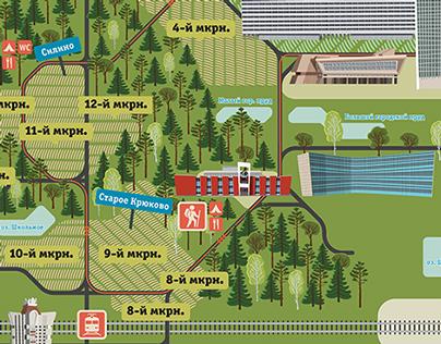 Zelenograd navigation map