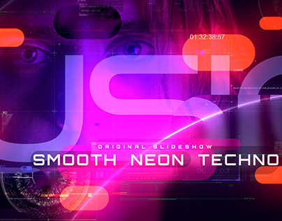 Smooth Techno Neon Slideshow