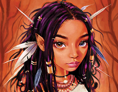 Niobe comic cover illustration