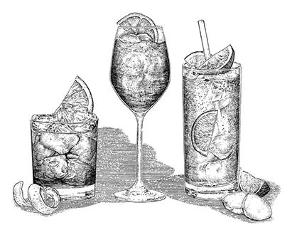 Classic Cocktail Illustrations