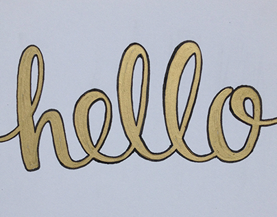 Hand Lettering (Cards)