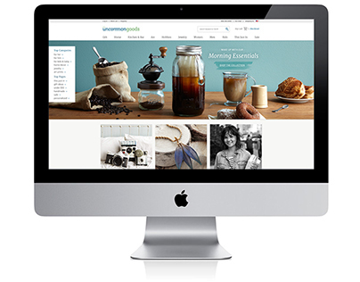 UncommonGoods Home Page Redesign