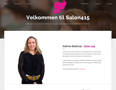 Webdesign for Salon415