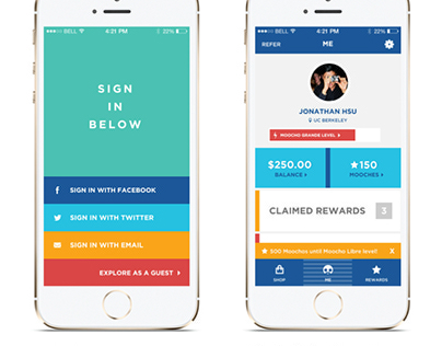 Moocho iPhone App Redesign