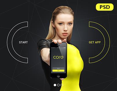 Core App Landing PSD Theme