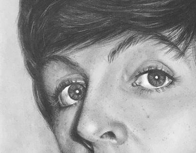 Retrato de Paul McCartney.