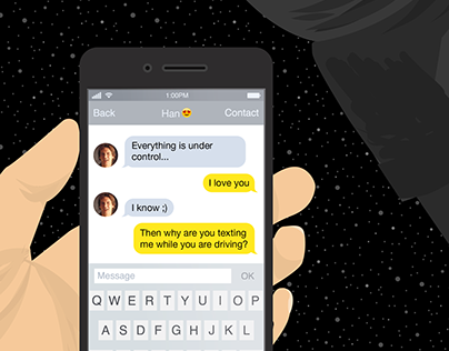 Avoid Texting and Driving like a Star Wars Character