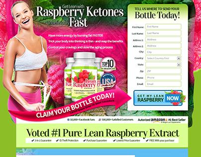 Raspberry Ketones Landing Page Template