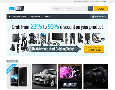 Responsive Bootstrap Auction Website Template