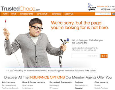 Project CAP/Trusted Choice web design