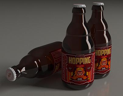 BHB Beer _ Label illustration, logotype n' claim