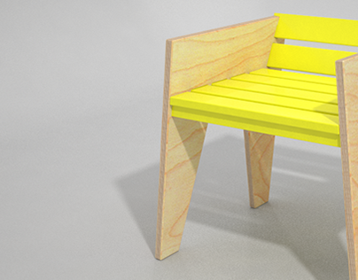 Plywood Chair & Table