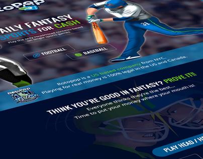 RotoPop - Fantasy Sports Website