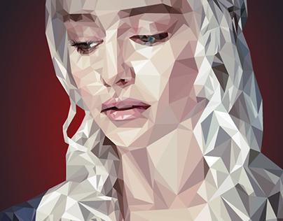Daenerys Targaryen Low Poly