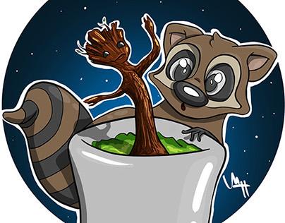 Groot and Rocket Raccoon!