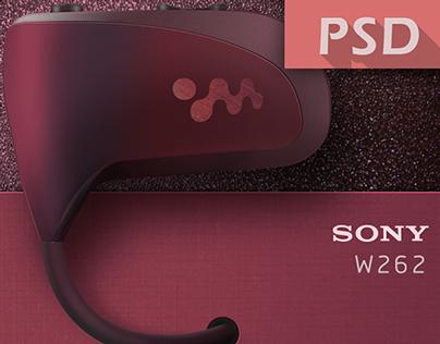 SONY Walkman W262 - my player - [ICON-PSD]