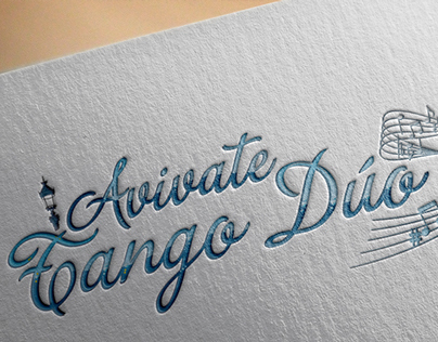 Logo filete porteño for tango duo