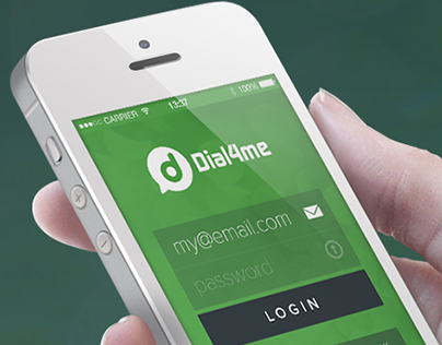 Dial4Me Mobile App UI/UX - iPhone & Android Phone App
