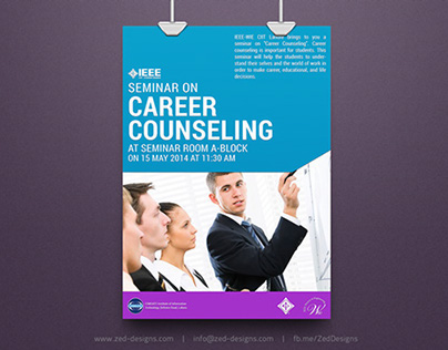 IEEE-WIE Career Counseling Seminar - Event Poster