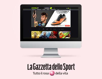 La Gazzetta dello Sport e-commerce website promotion