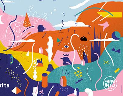 Smmmile Festival 2019 - Poster for a music festival