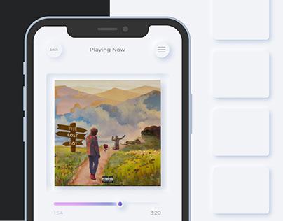 Neumorphic mobile app design