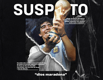 Diego Maradona for Suspeito Mídia