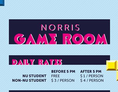 Norris Game Room Price List 2014