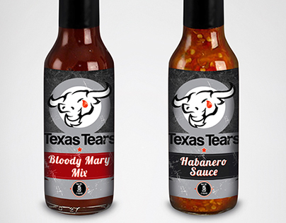 Texas Tears sauces - Product Label serie