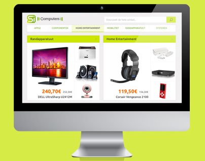 Web Design - Restyling of an ecommerce