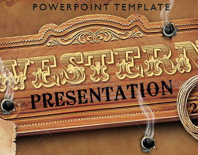 western style powerpoint presentation template on behance