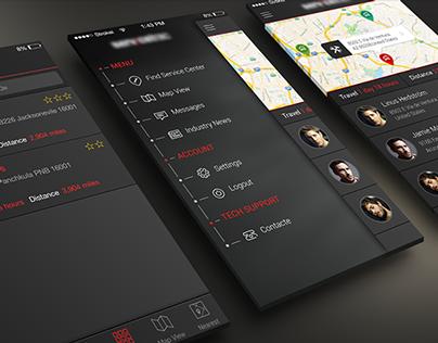 Truck Service App UI