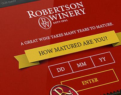 Robertson Wineries Website Concept & Design