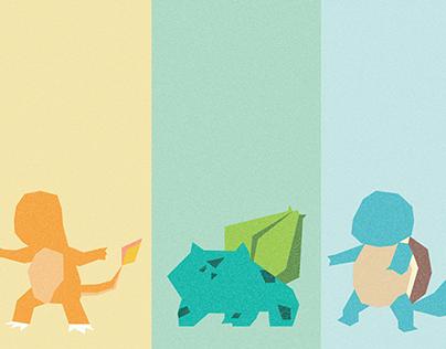 Pokemon Generation 1 Starters