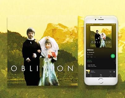 Digital cover design- Annette Gil Oblivion - single
