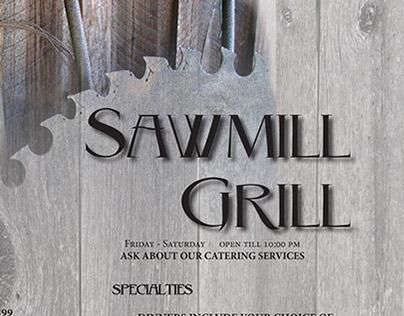 Sawmill Grill Menu Design