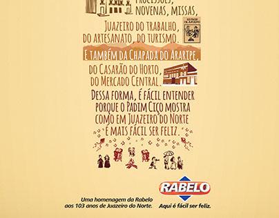 Anúncios de aniversário de cidades - Rabelo.