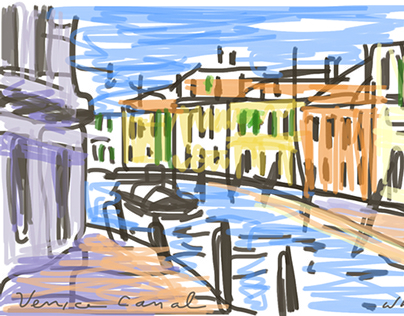 Italy Croatia animated painting sketchbook