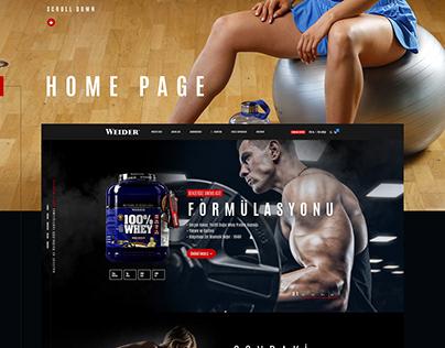 Weider Tr - Offical Web Site Design
