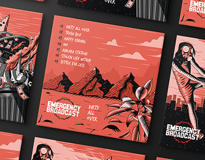 Emergency Broadcast - Dirty All Over Album Artworks
