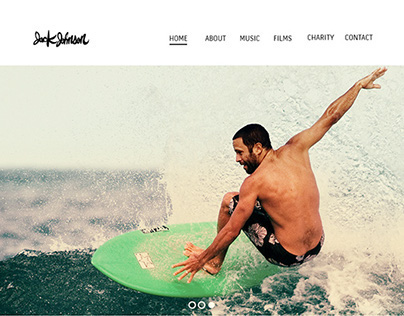 Jack Johnson Site designed and built  with html and css