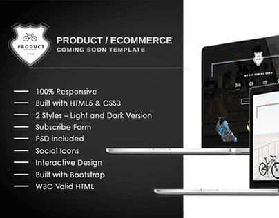 Ecommerce/Product Coming Soon Template