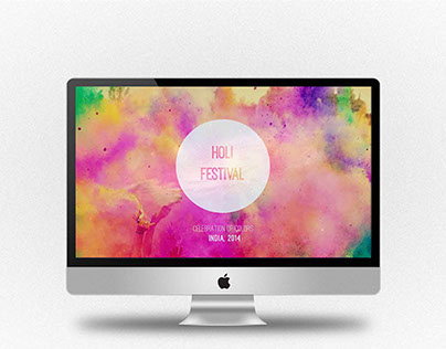 Web Invitation for the 2014 Holi festival in India.