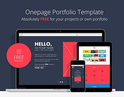 Onepage Portfolio Template (FREE)