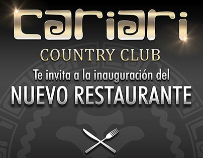 Cariari Country Club Golf Restaurant / Advertisement