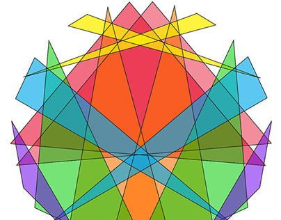 Follow the Bouncing Ball....Moleed star patterns