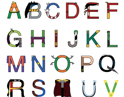 Alfabeto Super Heroes